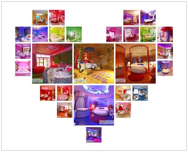 一誓玫瑰情侶主題酒店各式房間圖